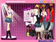 Онлайн игра Винкс клуб одевать модель